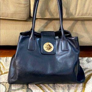 ♠️ Kate spade xl black leather tote purse/ travel
